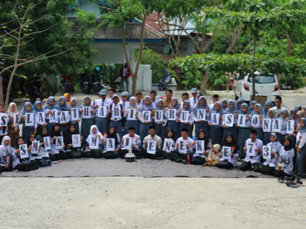 Pesan Penting Peringatan HGN Ke 73 Tahun 2018 di SMA 3 MAJENE